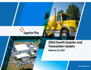 2016 Fourth Quarter and Transaction Update February 16, 2017 (2.4MB – PDF)