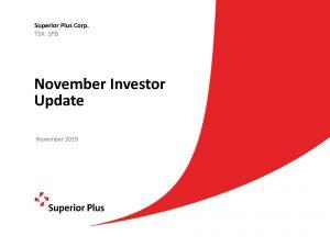 November Investor Update November 18, 2019 (1.10 MB – PDF)