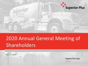 2020 Annual General Meeting of Shareholders May 13, 2020 (1.32MB – PDF)